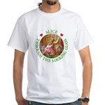 Alice Through The Looking Glass White T-Shirt