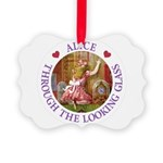 Alice Through The Looking Glass Picture Ornament