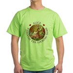 Alice Through The Looking Glass Green T-Shirt