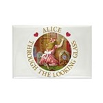 Alice Through The Looking Glass Rectangle Magnet (