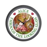 Alice Through The Looking Glass Wall Clock