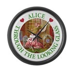 Alice Through The Looking Glass Large Wall Clock