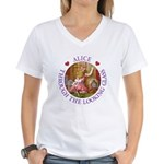 Alice Through The Looking Glass Women's V-Neck T-S