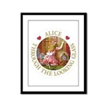 Alice Through The Looking Glass Framed Panel Print