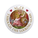 Alice Through The Looking Glass Ornament (Round)