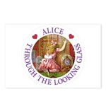 Alice Through The Looking Glass Postcards (Package