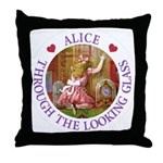 Alice Through The Looking Glass Throw Pillow