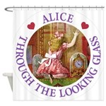 Alice Through The Looking Glass Shower Curtain