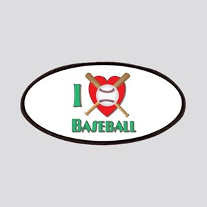 I Love Baseball Patches