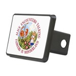 Alice Encounters Talking F Rectangular Hitch Cover