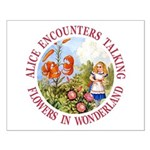 Alice Encounters Talking Flowers Small Poster