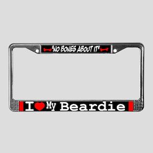 NB_Bearded Collie License Plate Frame