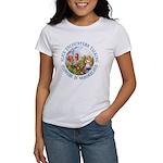 Alice Encounters Talking Flowers Women's T-Shirt