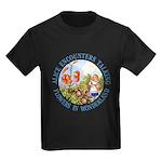 Alice Encounters Talking Flowers Kids Dark T-Shirt