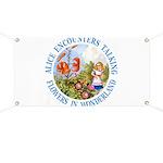 Alice Encounters Talking Flowers Banner