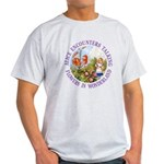 Alice Encounters Talking Flowers Light T-Shirt