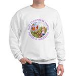 Alice Encounters Talking Flowers Sweatshirt