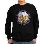Alice Encounters Talking Flowers Sweatshirt (dark)
