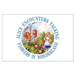 Alice Encounters Talking Flowers Large Poster