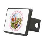 Alice Encounters Talking Flowers Rectangular Hitch