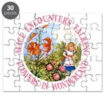 Alice Encounters Talking Flowers Puzzle