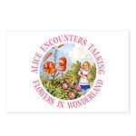 Alice Encounters Talking Flowers Postcards (Packag