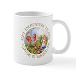 Alice Encounters Talking Flowers Mug