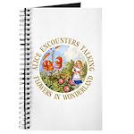 Alice Encounters Talking Flowers Journal