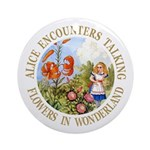 Alice Encounters Talking Flowers Ornament (Round)