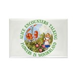 Alice Encounters Talking Flowers Rectangle Magnet