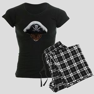 Pirate Bengal Cat Women's Dark Pajamas