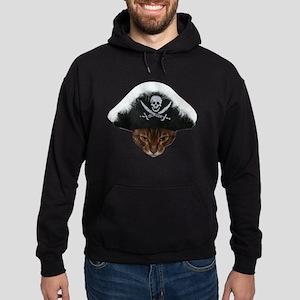 Pirate Bengal Cat Hoodie (dark)