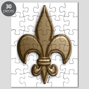 Gold Fleur De Lis Puzzle