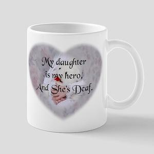 Daughter Hero Heart Mug