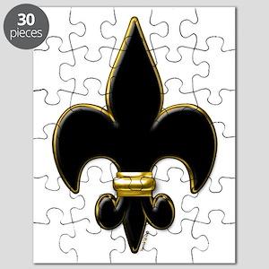 Fleur De Lis Black and Gold Puzzle
