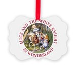 Alice and the White Knight Picture Ornament