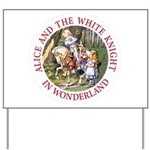 Alice and the White Knight Yard Sign
