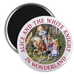 Alice and the White Knight Magnet