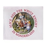 Alice and the White Knight Throw Blanket