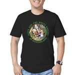 Alice and the White Knight Men's Fitted T-Shirt (d
