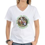 Alice and the White Knight Women's V-Neck T-Shirt