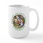 Alice and the White Knight Large Mug