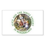 Alice and the White Knight Sticker (Rectangle 50 p