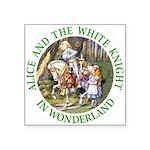 Alice and the White Knight Square Sticker 3