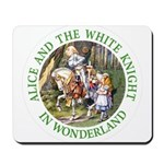 Alice and the White Knight Mousepad