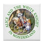 Alice and the White Knight Tile Coaster