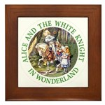 Alice and the White Knight Framed Tile