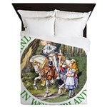 Alice and the White Knight Queen Duvet
