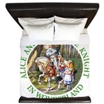 Alice and the White Knight King Duvet