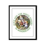 Alice and the White Knight Framed Panel Print